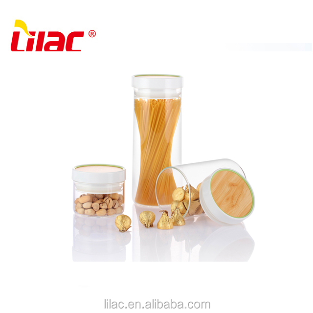 wholesale OEM&ODM 300ML 850ML 1450ML Clear Airtight square food storage glass jar with lid