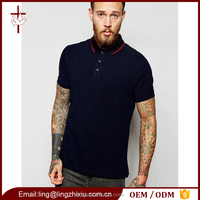 New Design 100% Cotton Men Polo T Shirt In Slim Fit In Navy