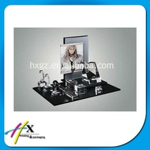 Attractive post printed famous brand watch diaplay stand transparent acrylic watch showcase