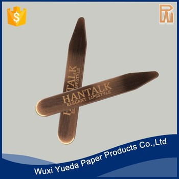 Shirt personalized brass collar stays stiffeners