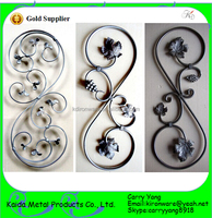Scroll Series Wrought Iron Decorative Metal Balusters for Stairs