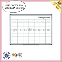 Office Aluminum frame magnetic White board with grey lines