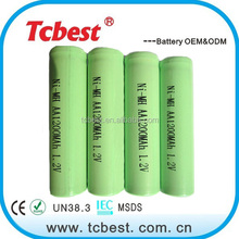 High quality 1.2v nimh aa 1200mah battery in rechargeable batteries
