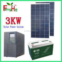 Factory supply 3000W 1000w 50000W Portable solar panel system, all in one power generation system