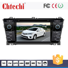 Car dvd player for Toyota 2014 Corolla 7inch With TV/AM/FM/Radio/Bluetooth/Navigation/Android4.4.4/Wince 6.0 system
