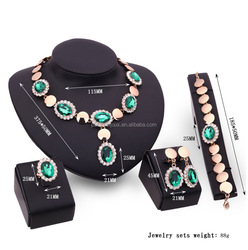 dignity luxury emerald in gold filled full set bijoux