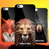 For boys cool animal style pc case , lion owl image plastic case cover for iphone 6s hard shockproof mobile phone case