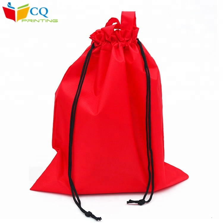 Alibaba China custom top quality red backpack drawstring laminated non woven bag