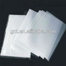 coated transparent pvc plastic overlay film with glue