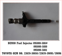 Original TOYOTA diesel fuel injector 23670-39095 for DENSO 095000-5880