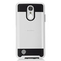 Brushed Metal PC TPU Hybrid Combo Armor Cell Phone Cases for LG Aristo/LV3/MS210 Shockproof Case
