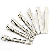 Multi size Metal Alligator clip single prong Hair Clips