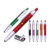 Most popular multifunction retractable 3d printed pull out banner pen custom plastic pen with different logo