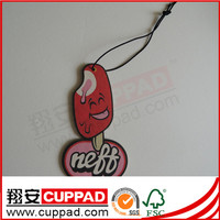 new product oil and gas scented paper car air freshener china factory supplier,paper smell for gift