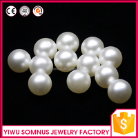 100pcs/bag Custom wholesale white shell pearl no hole loose beads