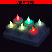 Wholesale Color Changing Waterproof LED Lights, Tealight Candle, LED Tea Light