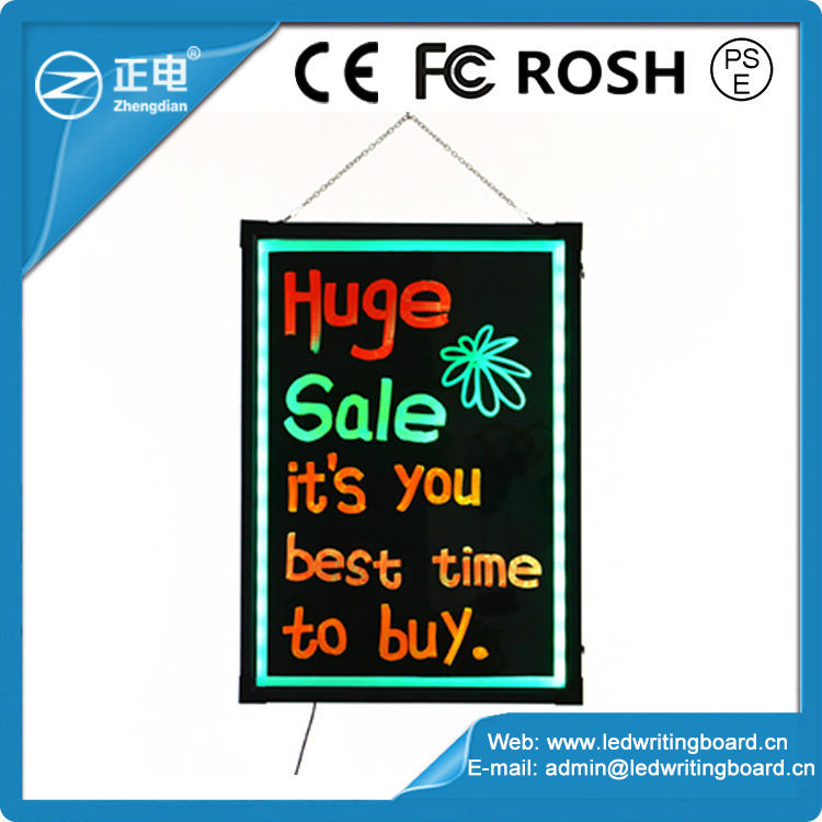 china discount low price new illuminated signs blackboard led 60