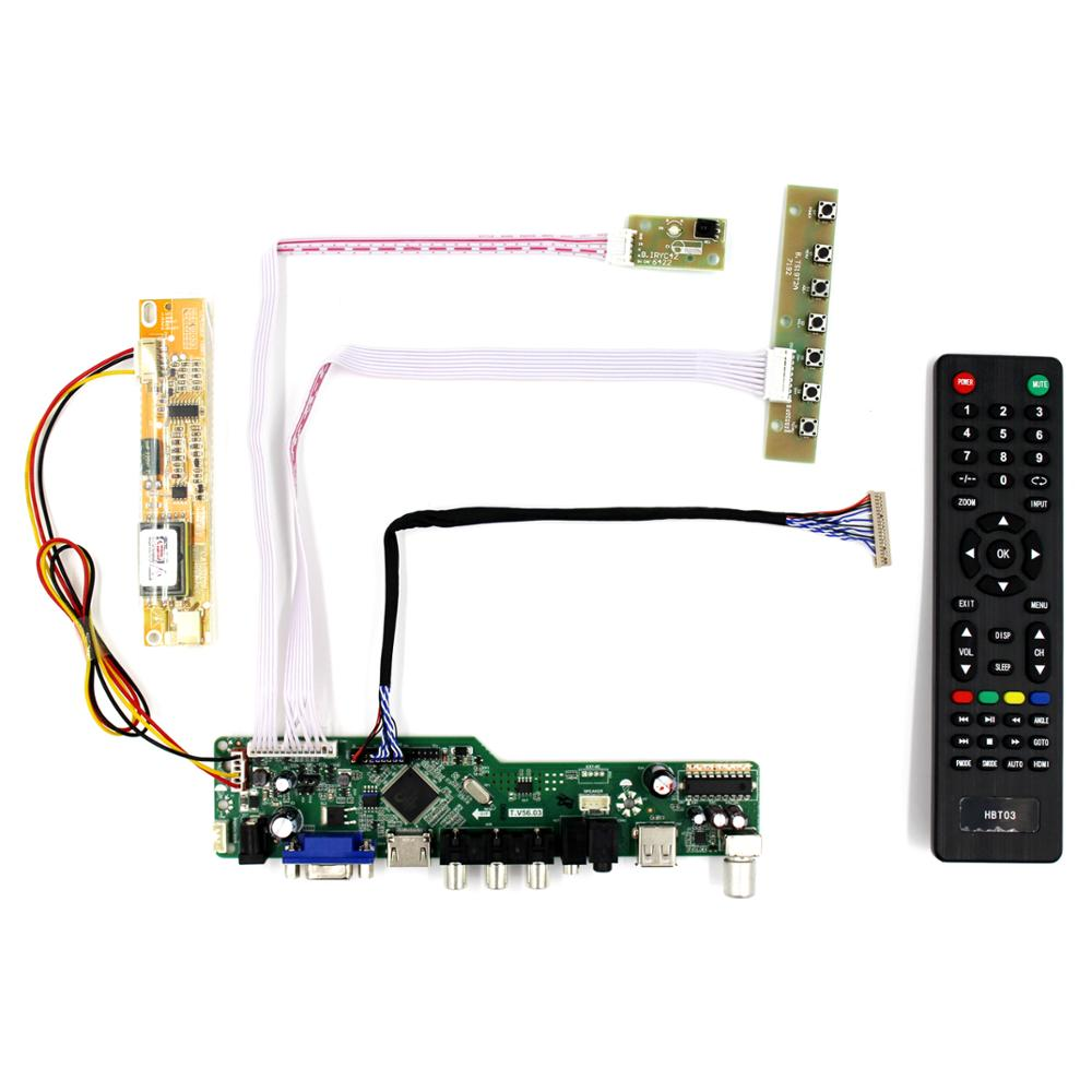 TV lcd controller boards work for 14.1inch 15inch 1024x768 20Pin lcd Panel