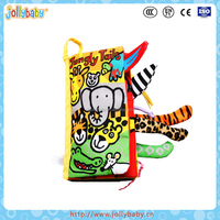 Australian Brand Jollybaby Lifelike Early Educational Animals Tails Kids Children Baby Toys Soft Cloth Fabric Book