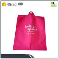Customized Logo Foldable Red Garment Suit Bags Wholesale