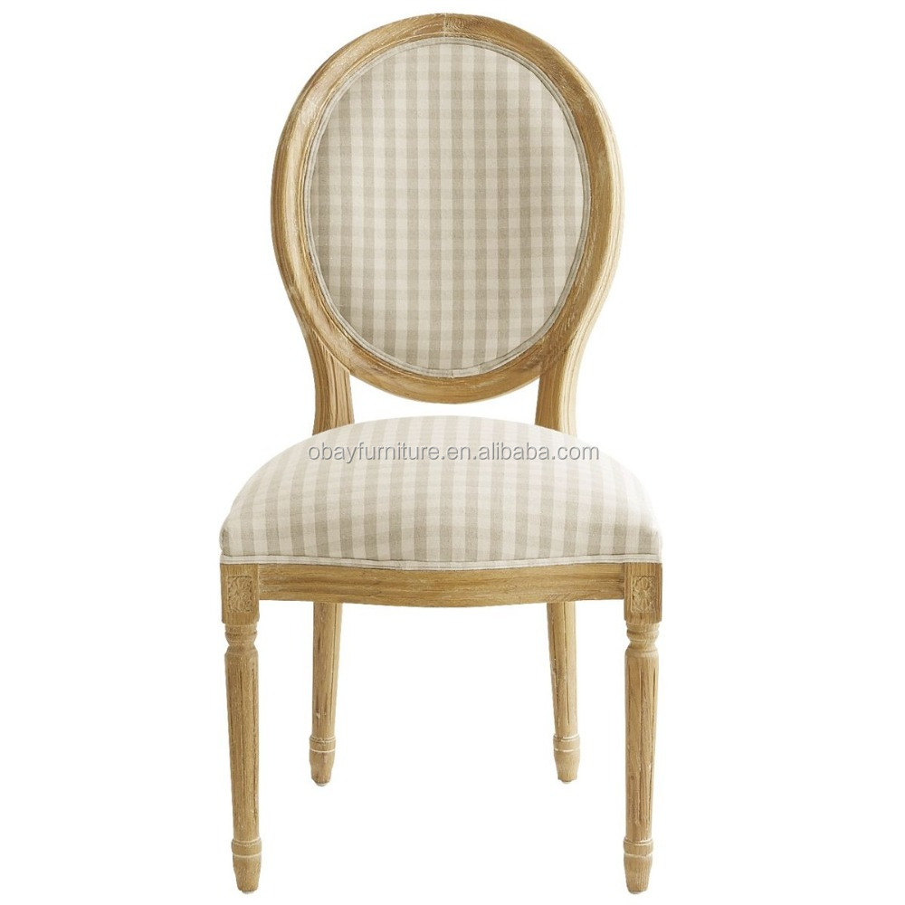 Provincial oval back louis dining chair made in china for Oval back dining room chairs