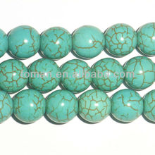 8mm light blue color dyed howlite turquoise blue jasper beads
