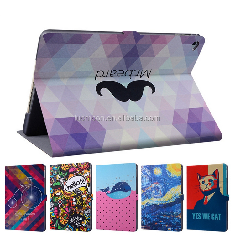 ODM OEM 3D print PU leather tablet case covers for ipad mini air pro 2 3 4 5 case