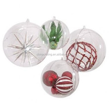 100mm wholesale christmas transparent plastic ball decoration supplies with high quality