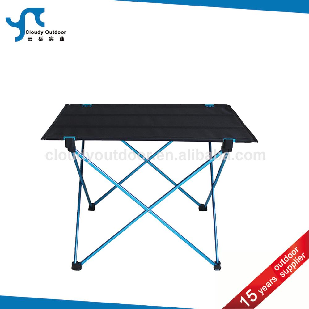 Lightweight outdoor portable camping aluminum folding table