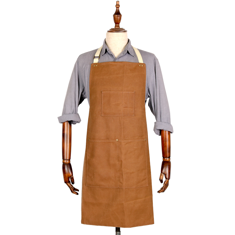 Well crafted custom logo butcher waxed canvas apron supplier
