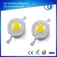 Super bright 170LM/W Bridgleux LM80 Diodes High power 1 watt LED