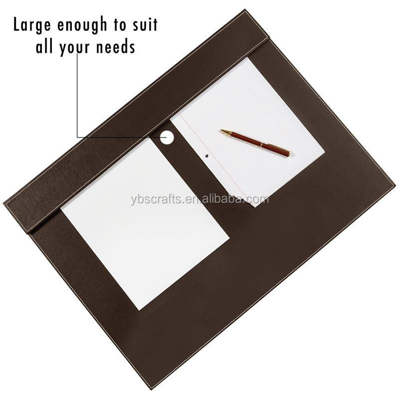 PU Leather Writing Pad Desk Mat with A3/ A4 File Paper Clip Drawing & Writing Board Tablet