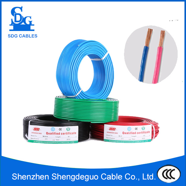 china manufacturer pvc single core nylon protective sheath 8awg thhn cable