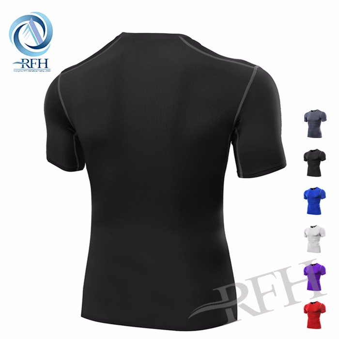 Compression tights clothes sportswear gym fitness compression plain t shirt