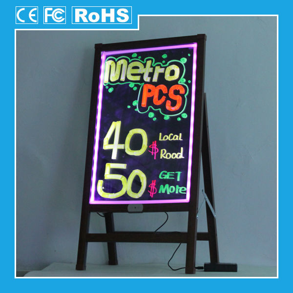 [ZD] 2014 New folding LED Glow Sign Board