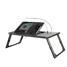 Multi-Position Adjustable Plastic Bed Table & Serving Bed Tray Built-in Power Bank