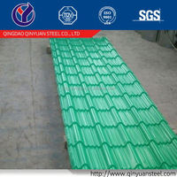 Qinyuan prepainted metal zinc corrugated steel plate, roofing sheet/factory price