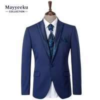 Hot Selling OEM Men's Latest Style Tuxedo suits, Wedding Dress Tuxedo Men's Suits, Custom 4 Piece Shining Tuxedo Suits for men's