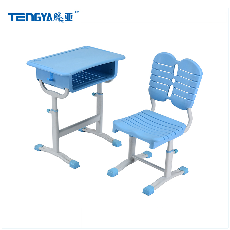 Experienced manufacturer adjustable height elementary school desk with chair