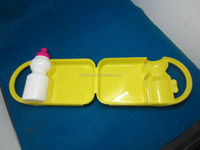 2012 news kids plastic lunch box,made of plastic pp