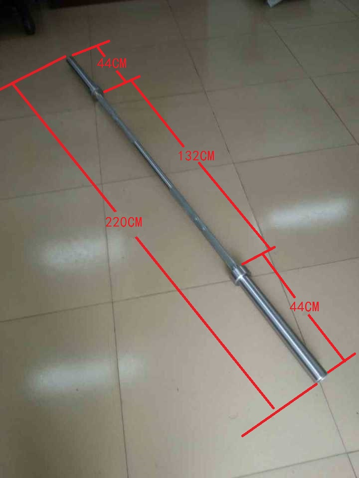 2200mm Hard Chrome Gym Weightlifting Barbell Bar