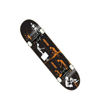 Pro quality Canadian maple skateboard completes, double kick complete skateboard with customized printing2017