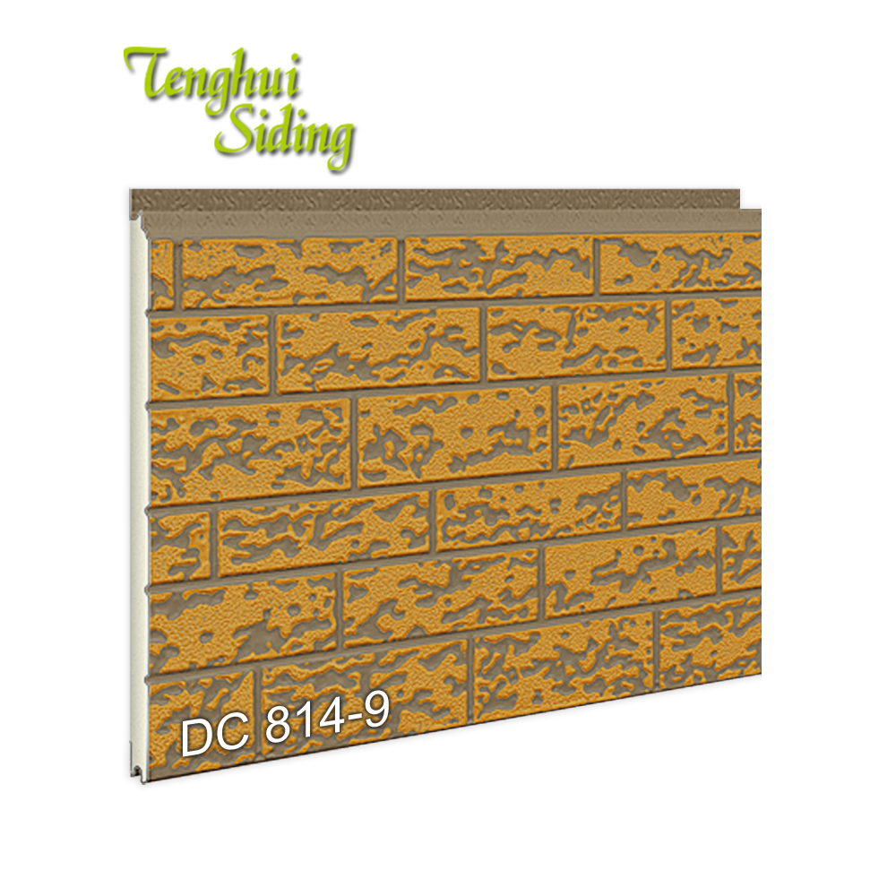 Dalian Tenghui Siding Building Lightweight Pu Sandwich <strong>Panel</strong> Price List Pattern <strong>Panel</strong> For Construction