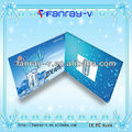 "2014 Latest 2.8"" TFT lcd video promotion brochure cards, video book"