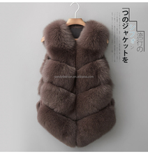 Ladies Top Genuine Mink Fur/Real Fox Fur Vest