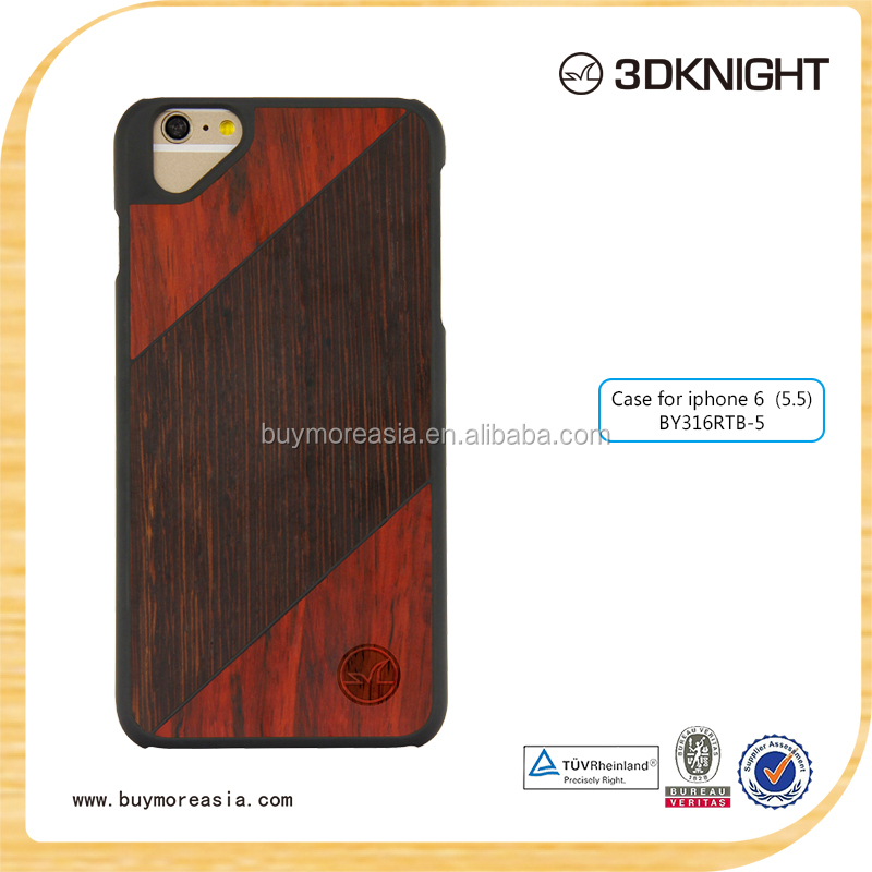 Custom Design Cell Phone Case Wood+ PC Protective for iPhone 6s Super Thin OEM Cover