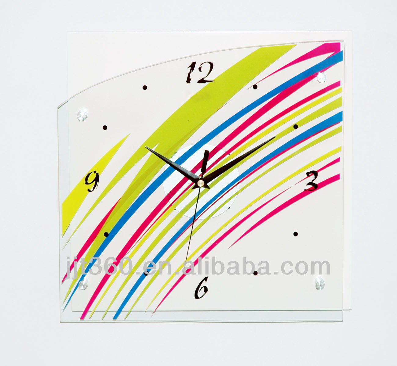 Oil Painting Acrylic Wall Clock Made Up with MDF for Home Decor
