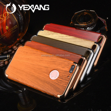 3 In 1 Anti-knock Cases Removable Back Cover Wood Pattern Phone Case for iPhone 7 Plus