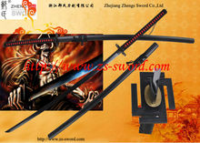 Hand forged full tang Anime and Cosplay sword 56' Bleach Sword -Bleach Bankai Cutting Moon Sword Kurosaki ichigo