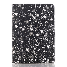 Fashion Stars Pattern Leather Wallet Case for ipad new 2017 , for Apple ipad cases